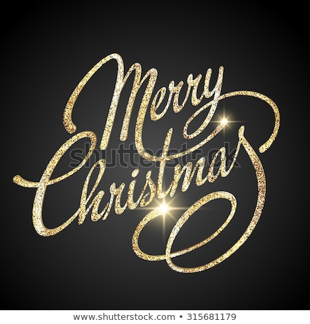 neşeli · Noel · siyah · dizayn · eps - stok fotoğraf © rommeo79