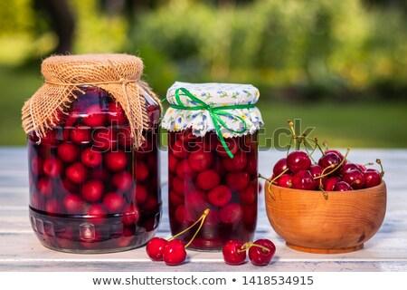 cherry compote Stock photo © laky981