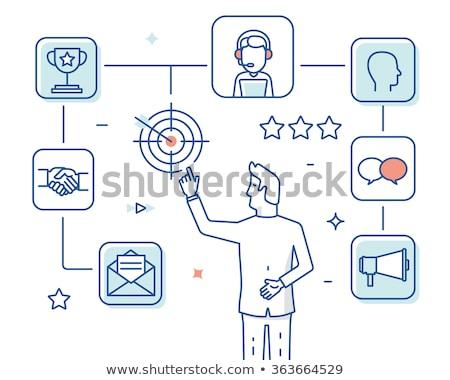 Społecznej crm online pracy klienta stosunku Zdjęcia stock © tashatuvango
