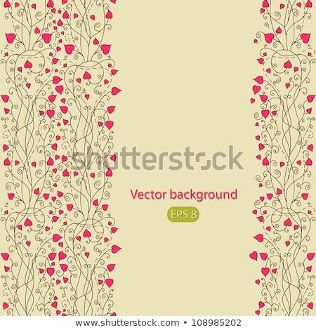 Foto stock: Vector · San · Valentín · árbol · eps · archivo · hoja