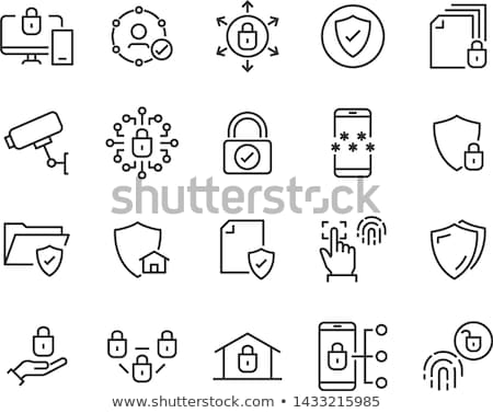 Cloud computing security line icon. Stock photo © RAStudio