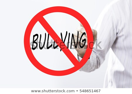 Bullying Red Marker Stock photo © ivelin