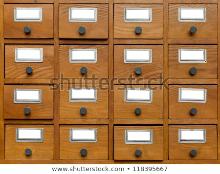Old wooden card catalog in the archive library Stock photo © Valeriy