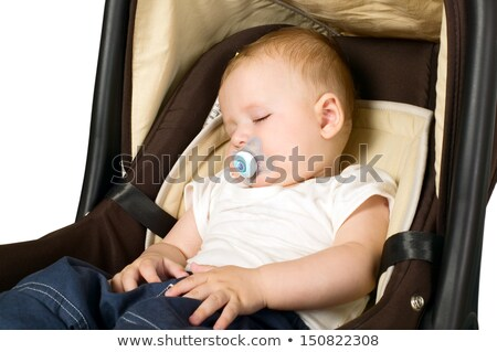 baby sleeping in carseat stock photo © alphababy