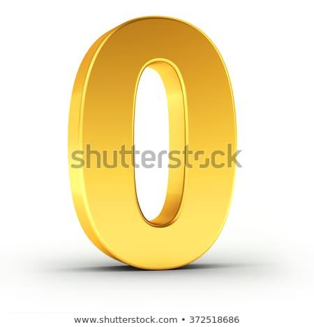 Numer zero obyty złoty obiektu Zdjęcia stock © creisinger