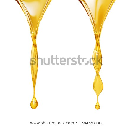 Stock photo: pouring oil