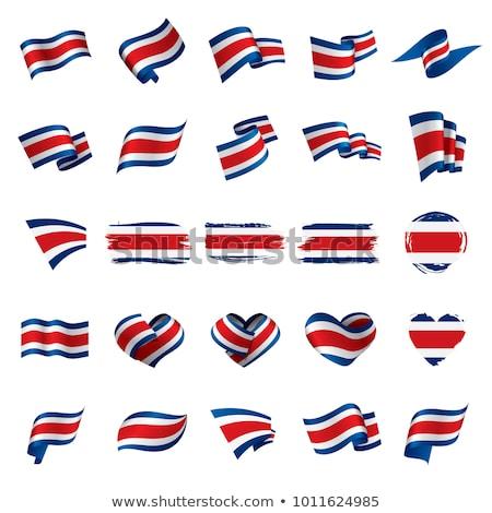 Costa Rica Heart flag icon Stock photo © netkov1