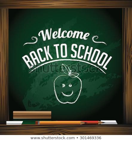 Terug naar school teken eps 10 vector bestand Stockfoto © beholdereye