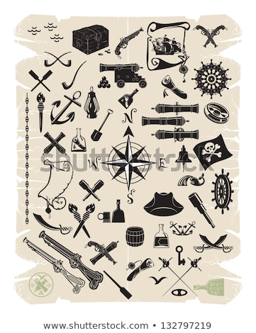 Old cannons vector drawings pattern Stock photo © netkov1