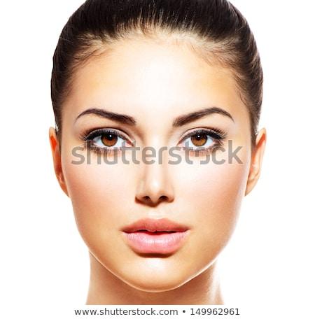 beautiful woman face close up studio beautiful woman face close up studio stock photo © stryjek