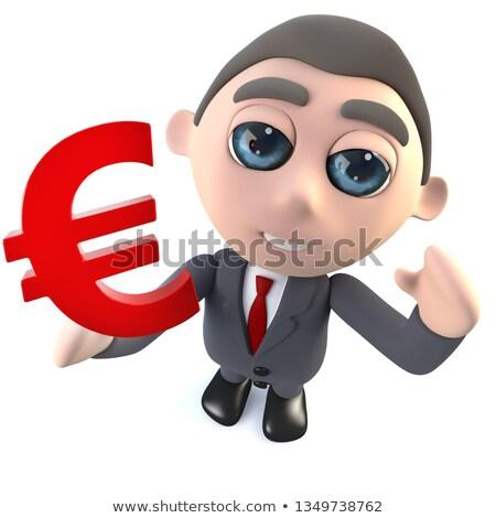 3D homem euro moeda banqueiro Foto stock © Kzenon
