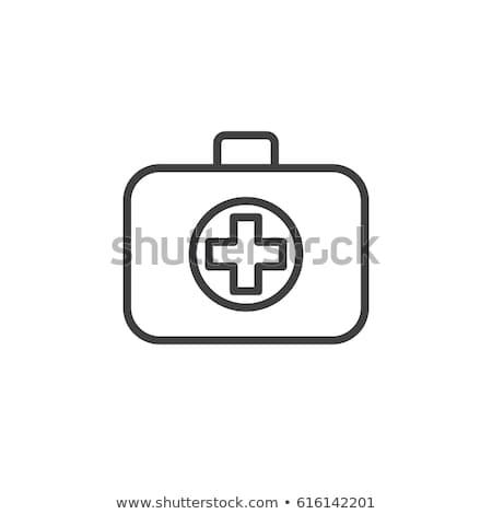 Medic · cas · icône · vecteur · couleur - photo stock © rastudio