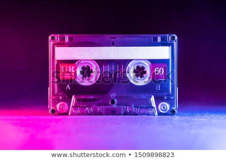 zwarty · kaseta · czarny · biały · muzyki · tle - zdjęcia stock © devon