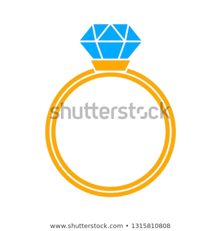 Stok fotoğraf: Diamond Ring Wedding Gift Isolated