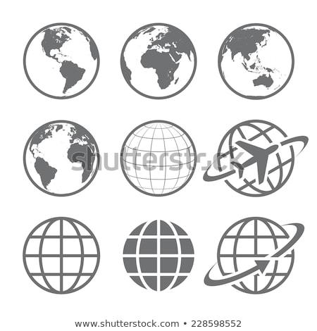 Föld · földgömb · repülőgép · illusztráció · utazás · üzlet - stock fotó © bluering