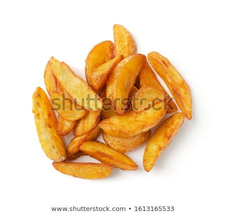 Aardappel eigengemaakt zwarte gietijzer pot Stockfoto © zhekos