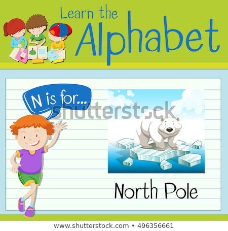 letra · t · pólo · ilustração · crianças · criança · fundo - foto stock © bluering