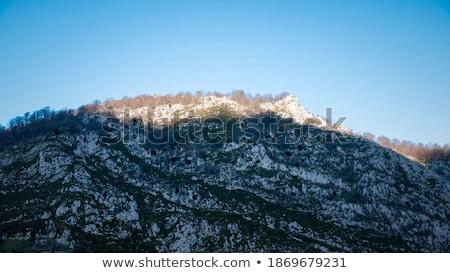Montanhas alcance nascer do sol real sol de manhã cedo Foto stock © Taiga
