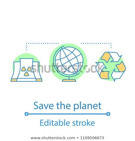 nucléaire · fission · illustration · éducation · énergie · dessin - photo stock © angelp