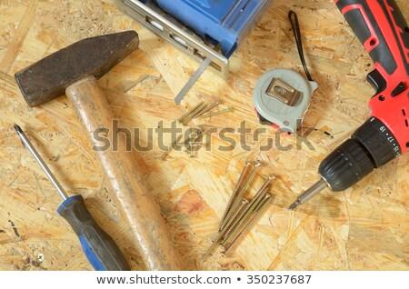 carpenter placing a jig on a board stock photo © Giulio_Fornasar