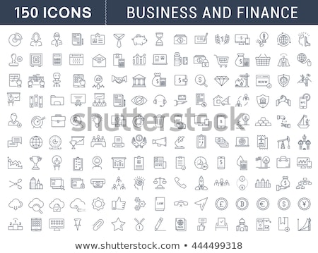 flat thin line business and finance icons stock photo © vectorikart