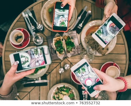 Social Media on plate Stock photo © fuzzbones0