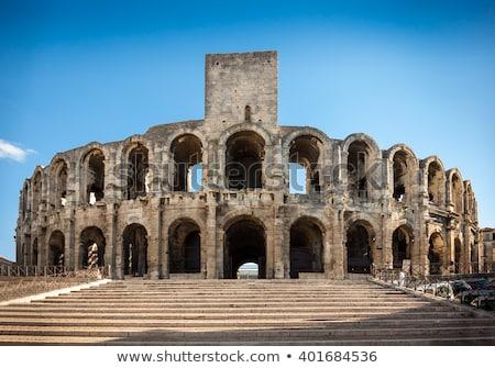 Kilátás öreg római falak aréna Stock fotó © meinzahn
