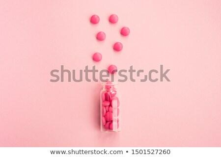 Rosa ilustração branco garrafa gráfico Foto stock © bluering