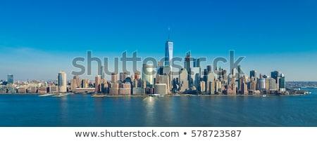 снизить Manhattan Skyline силуэта город Нью-Йорк Сток-фото © blamb