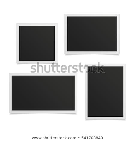 üres oldal azonnali fotók fa asztal nyomtatott Stock fotó © fuzzbones0