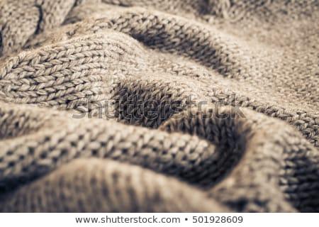 Tekstury ciepły wełny koc wełniany Zdjęcia stock © stevanovicigor