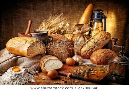Csendélet kenyér étel vacsora friss étel Stock fotó © user_9834712