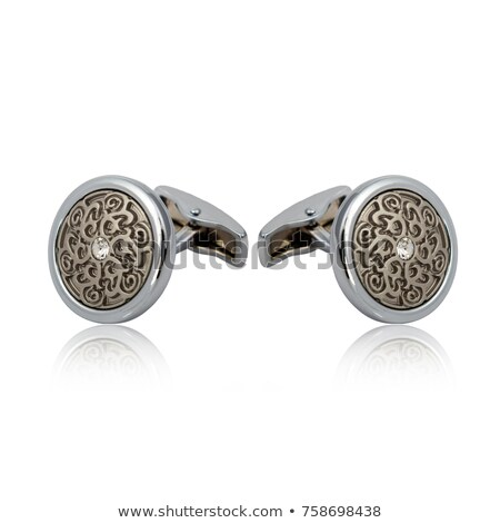 Cuff links isolated on white Stock photo © goir