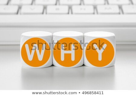 Letter dice in front of a keyboard - Why Stock photo © Zerbor