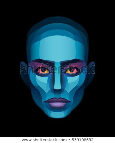 zumbi · menina · retrato · sangrento · make-up · látex - foto stock © BigKnell
