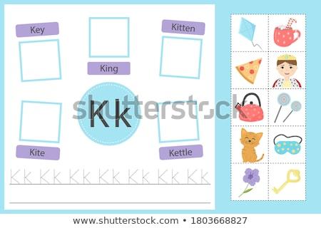 Flashcard letter K is for kitten Stock photo © bluering