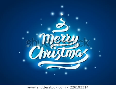 Simple elegant Christmas horizontal banner Stock photo © ozgur