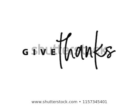 boldog · hálaadás · kalligráfia · szöveg · üdvözlőlap · izolált - stock fotó © anna_leni