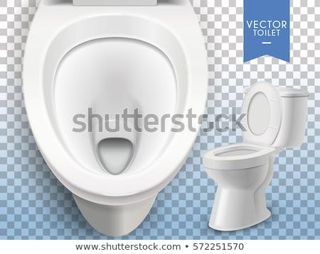 toilet bowl on white background isolated 3d image stock photo © iserg