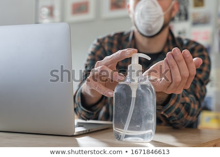 man and woman cleaning and care her face stock photo © robuart
