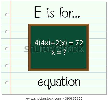 уравнение иллюстрация дети ребенка фон Сток-фото © bluering