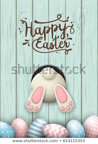 Easter eggs on wooden background. EPS 10 Stock photo © beholdereye
