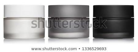 mãos · jarra · cosmético · creme · branco · corpo - foto stock © oleksandro