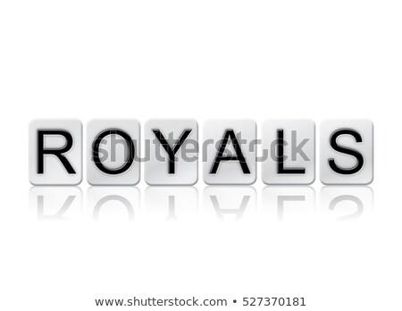 koningin · geïsoleerd · witte · woord · geschreven - stockfoto © enterlinedesign