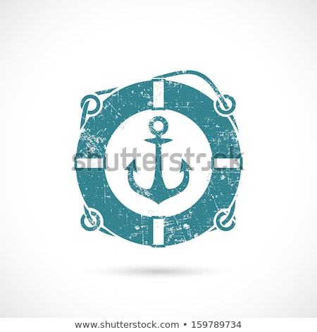 Marine symbol with safety rings and anchor Stock photo © bluering