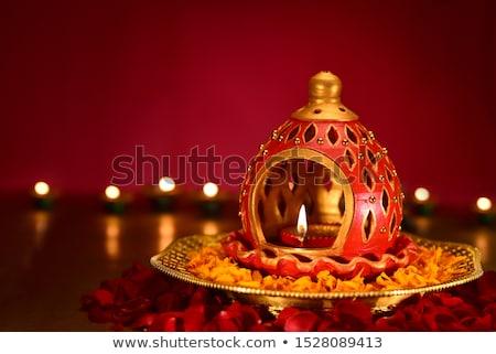 Diwali ışık dizayn sanat kart grafik Stok fotoğraf © SArts