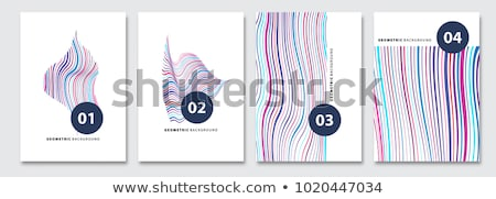 business flyer with minimal pattern Stock photo © SArts
