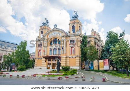 румынский опера здании фонтан передний план город Сток-фото © joyr