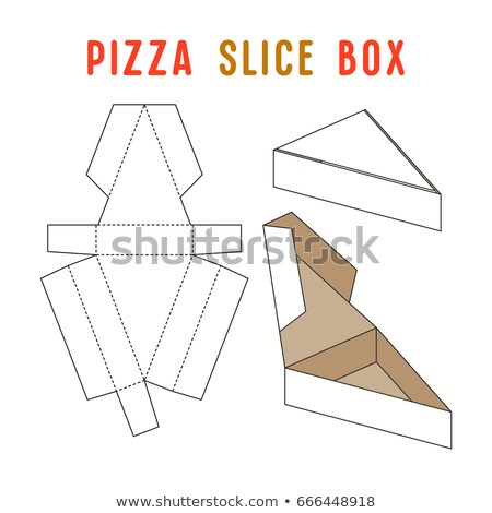 3d Illustration of Pizza triangular box with pizza in, isolated on white. Stock photo © tussik