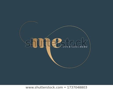 letter M golden line art monogram logo Stock photo © SArts